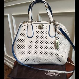 Coach Bags - Coach Saffiano Prince Street Perforated Satchel